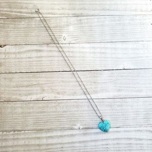 Jewelry - Natural Turquoise Stone Heart Pendant Necklace